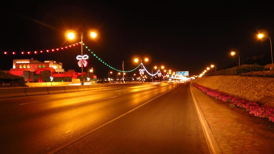 Sultan Qaboos Street on the 44th National Day of Sultanate of Oman