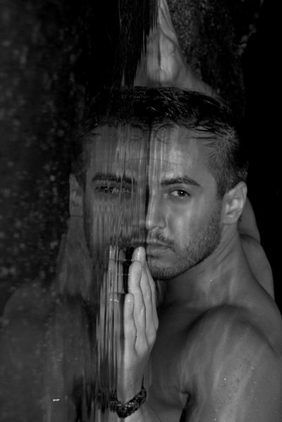 mirrored man