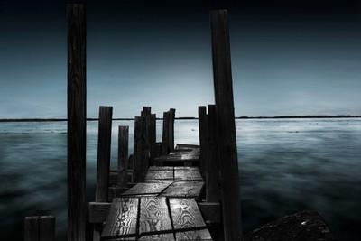 Moon Light on the Dock