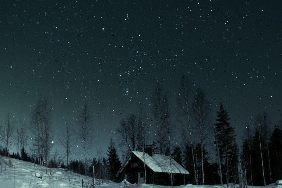 Veiw from night sky in Finland