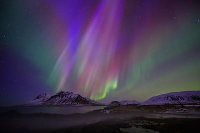 Auroras in Kolgrafarfjordur Iceland