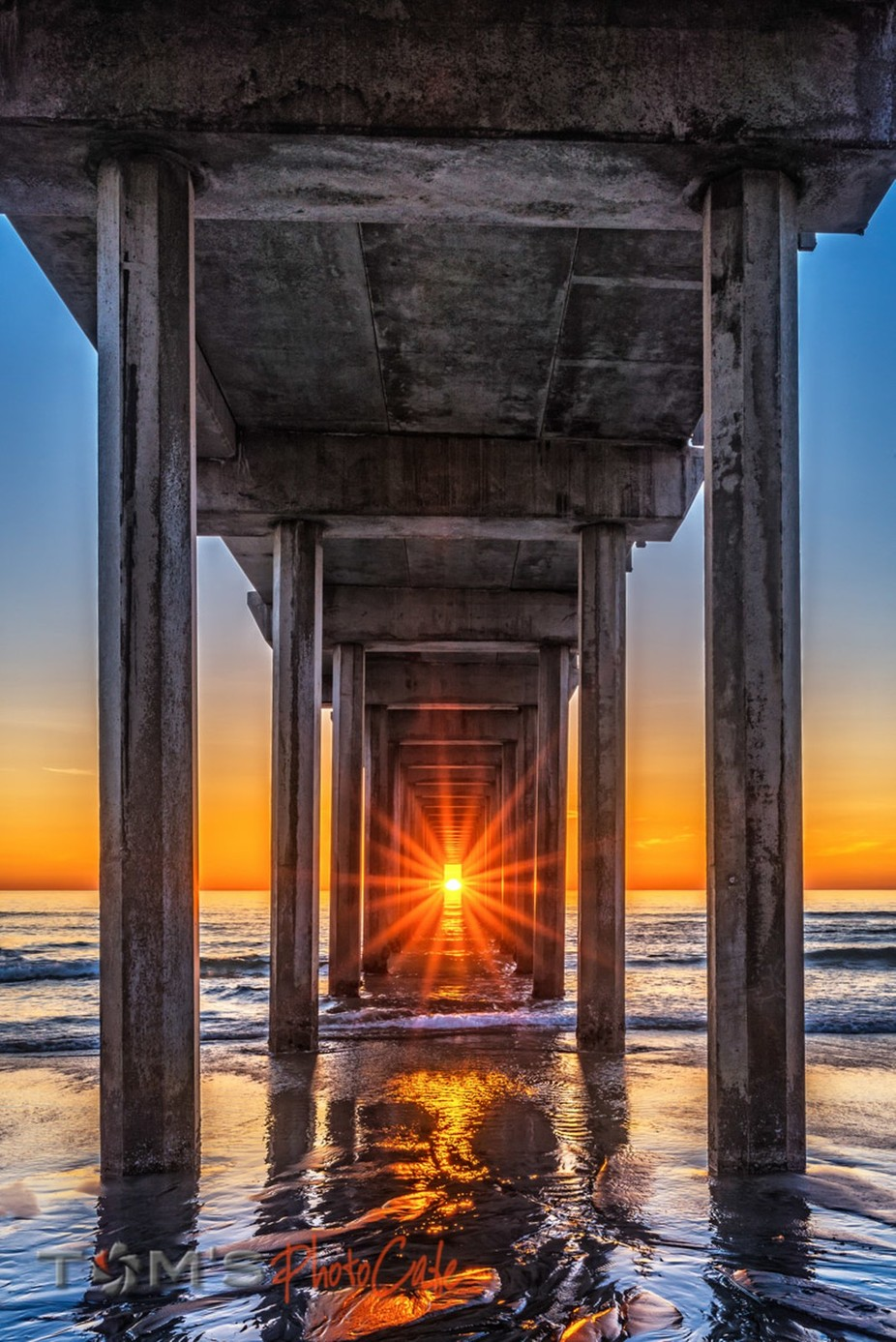 Scripps Pier Henge by tomgessner - Sun Flares Photo Contest