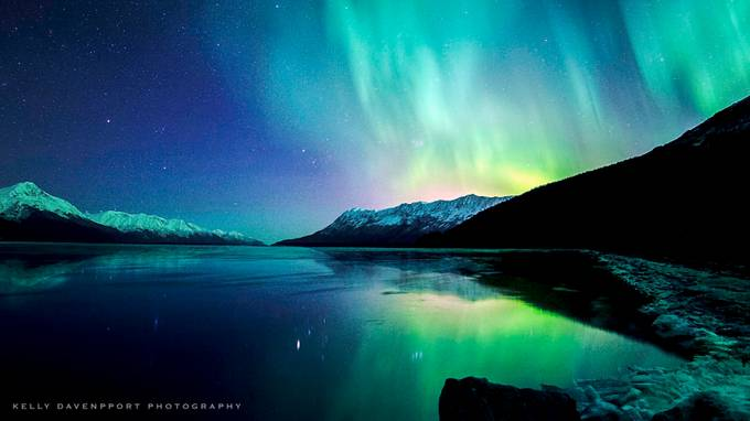 Reflections of the Alaskan Aurora  by kellydavenport - Light On Water Photo Contest