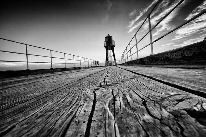 Whitby Pier by SteveCheetham - Clever Angles Photo Contest