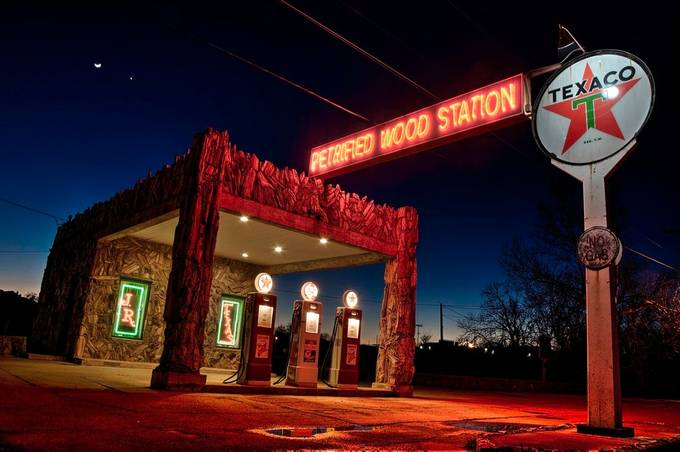 Magic Hour Texaco by jamesnelms - Billboards And Other Signs Photo Contest