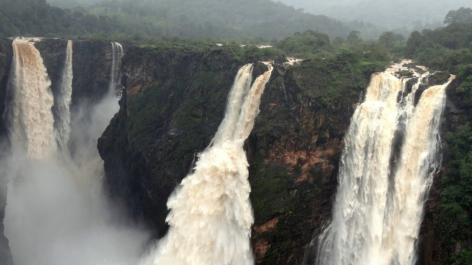 JOG falls, Karnataka, India during Monsoon season. Shot on 17-July-2013.