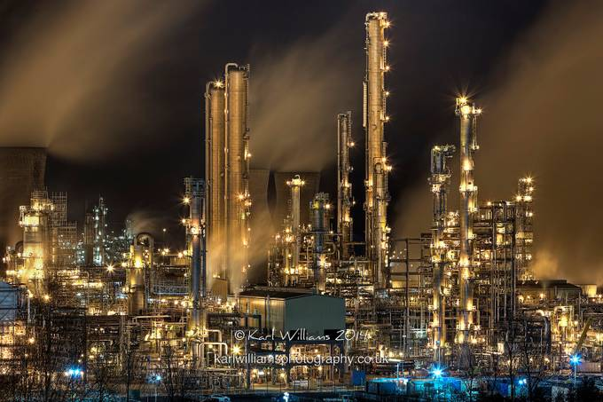 Grangemouth Refinery (2) by KarlWilliamsPhotography - Energy Photo Contest