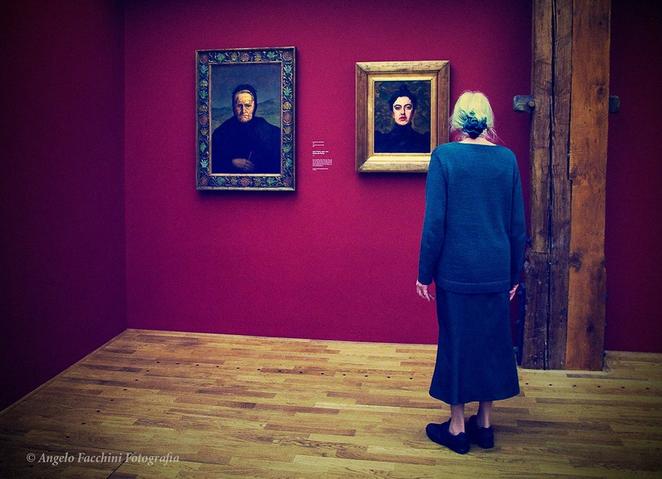 Woman in a museum