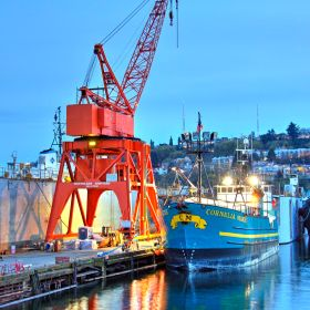 My wife spotted the Cornelia Marie, one of the fishing boats of Deadliest Catch fame on her way home from work. I rushed out to grab this image j...
