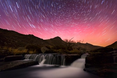 Tavy Cleave Waterfall at Night