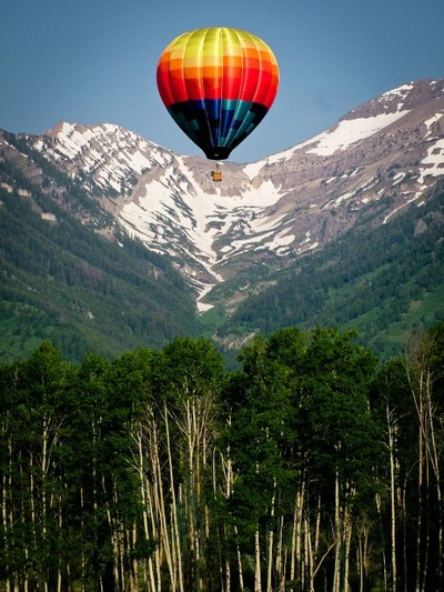 Balloon ride in the Tetons