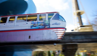 Seattle Monorail in Motion