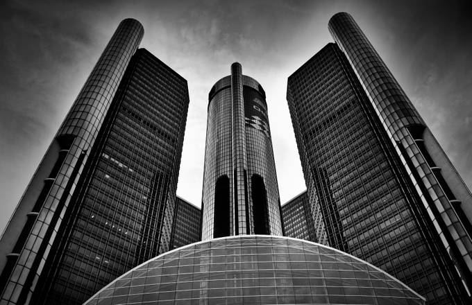 Detroit by rueromani - Structures in Black and White Photo Contest