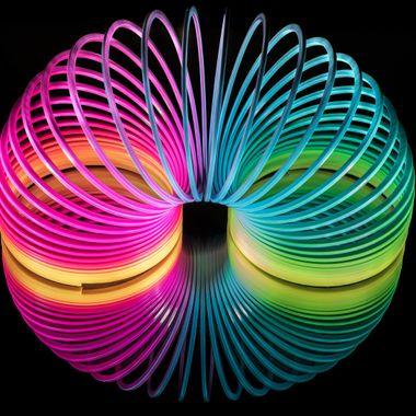 Slinky on Glass