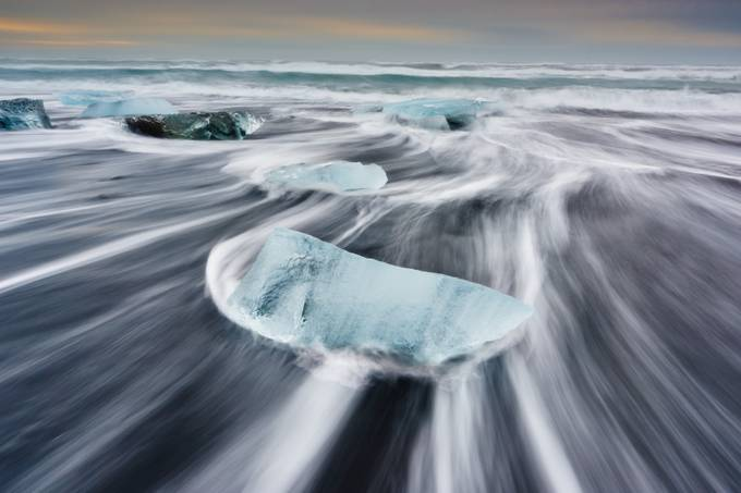 Jokulsarlon Ice Beach Iceland by shanewheelphoto - Photos With Filters Photo Contest