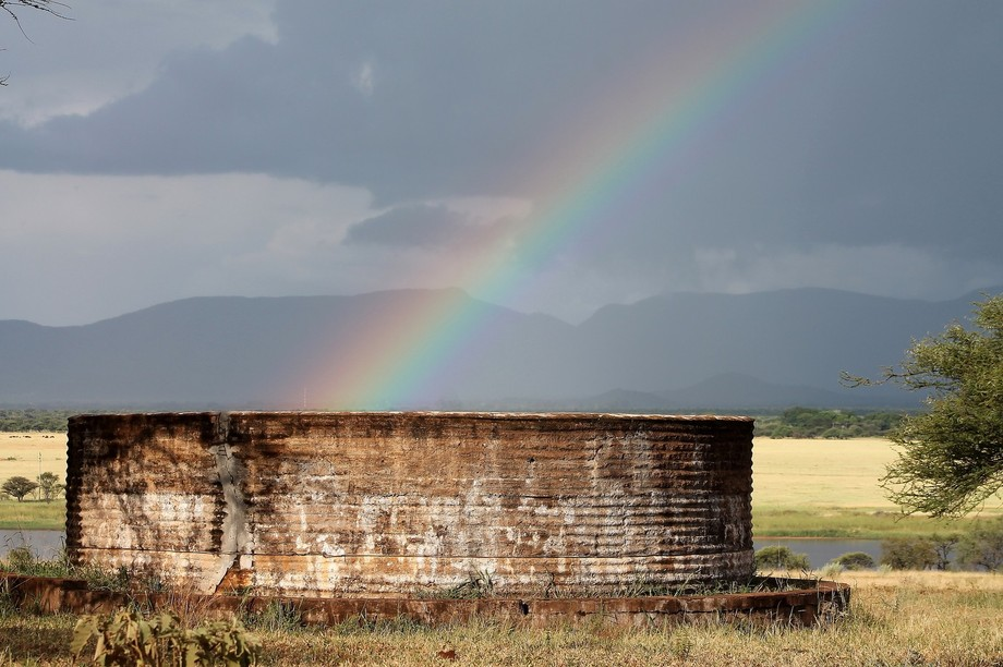 This was the perfect rainbow at the perfect spot. As if their is a pot of gold inside the farm dam.