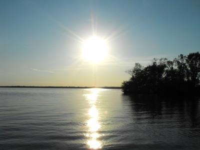 Sunset on Lake Petenwell Wisconsin