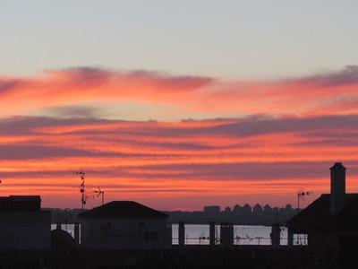 Sunset Over Salt Lakes of La Mata