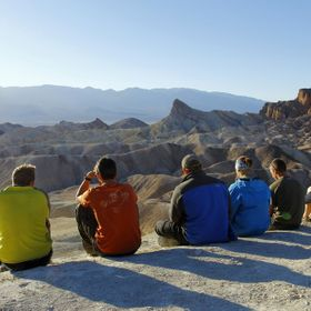 After a 18 day hiking trip in Death Valley California, we sit and watch the sun set on this beautiful bluff.