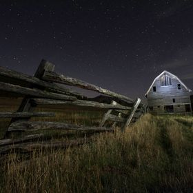 I took this late at night and lit the barn with my headlight flashlight.