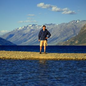On a road trip in the South Island of New Zealand. A narrow finger of gravel pushing out into the waters of Lake Hawea became my little island pl...