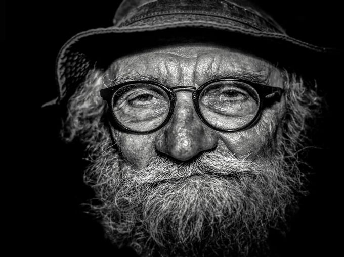 Grandpa by Eric-Coehoorn - Textures In Black And White Photo Contest