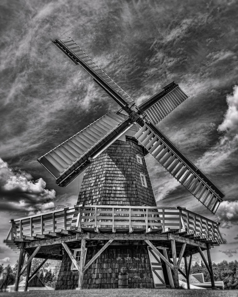 Windmill by Bogiebroph - Depth In Black And White Photo Contest