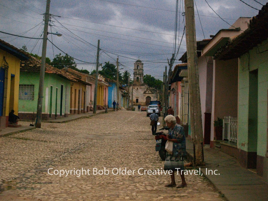The Street and Cathedral in Trinidad, Cuba