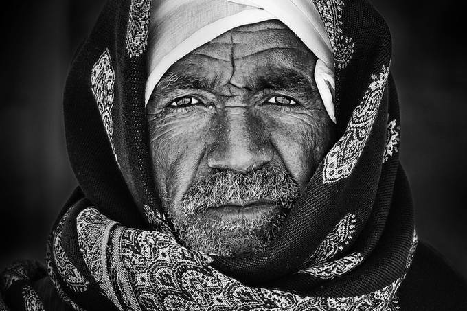 Egyptian Portrait by mkader - People In Black And White Photo Contest