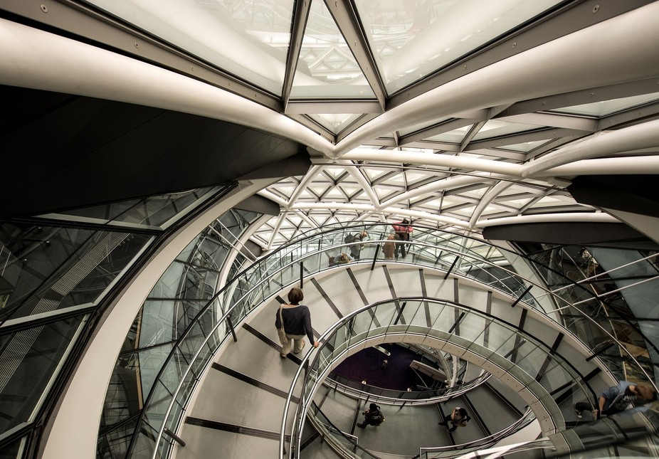 Taken during Open Houses weekend at City Hall in London. I love the architecture of the circular ...