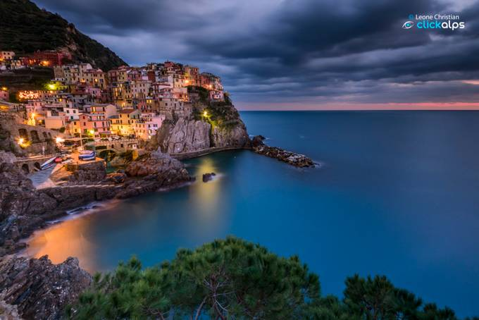 Blu hour in Manarola by PhotoLeone - Light On Water Photo Contest