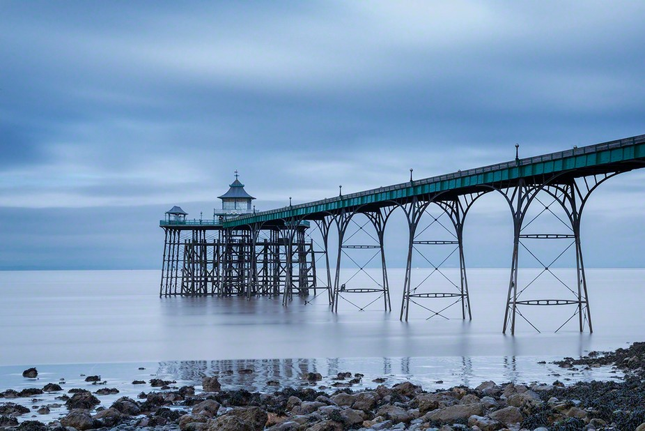 This photograph was taken on a winters afternoon at Clevedon Pier near Bristol on the River Severn.