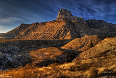 Guadalupe Mountain Sunset (HDR)