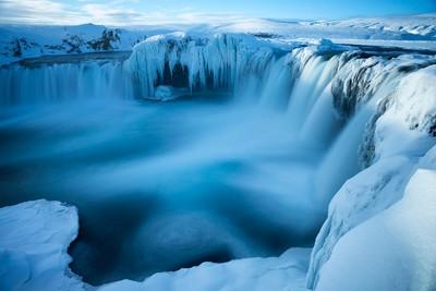 Godafoss, Iceland, long exposure