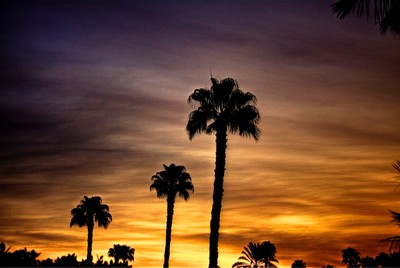 Sunset over Palm Springs