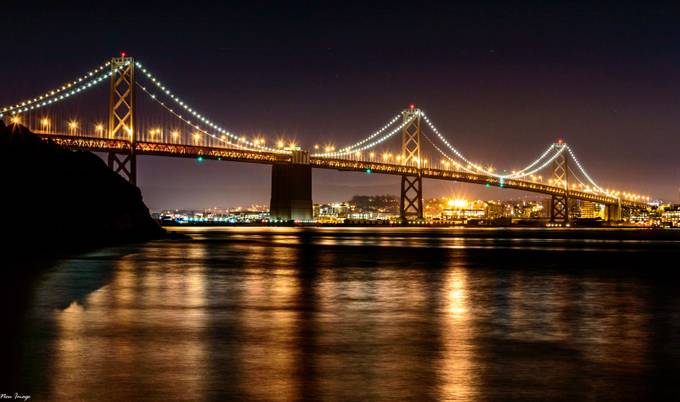 San Francisco Bay Bridge by neusworthyimages - Light On Water Photo Contest