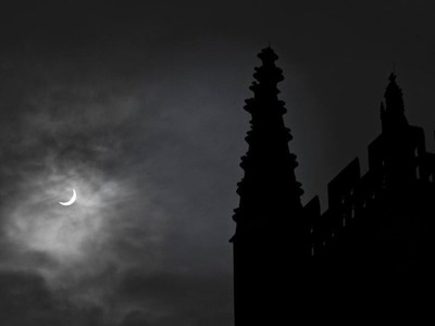 Eclipse at Bath Abby