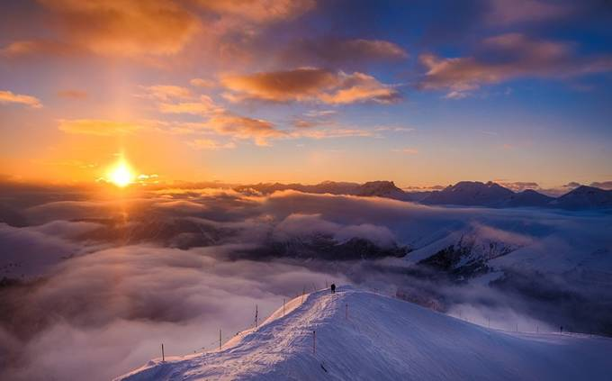 Over the clouds by curdinwuethrich - Pushing Limits Photo Contest