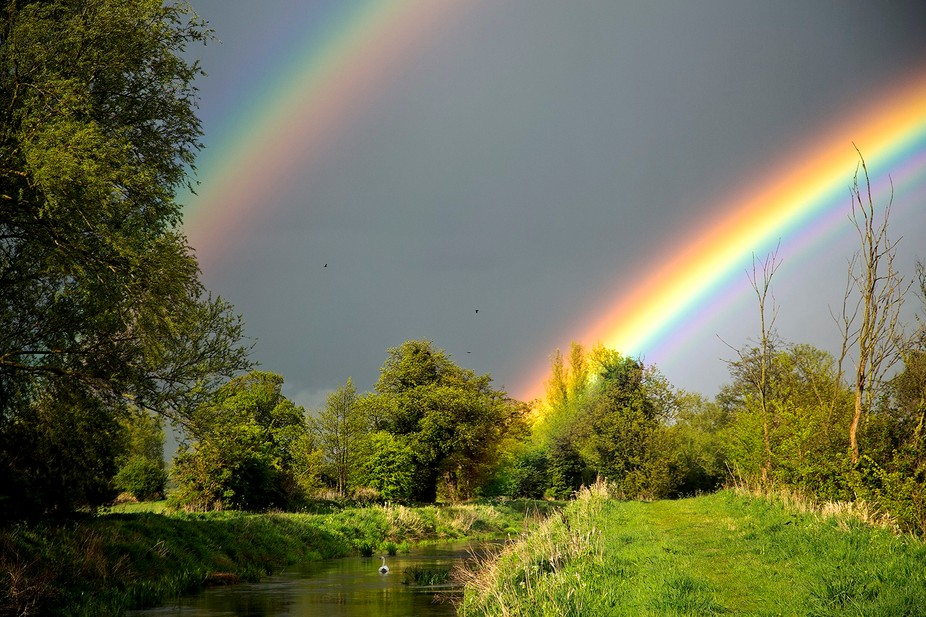 After struggling through wind,rain and hailstones for an hour I stumbled across the river Nar and...