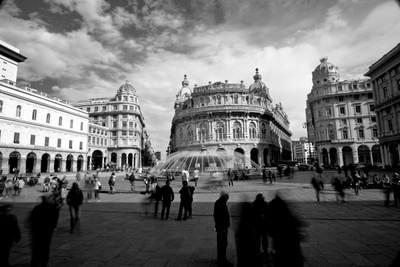 Genova, Piazza de Ferrari. Italy.