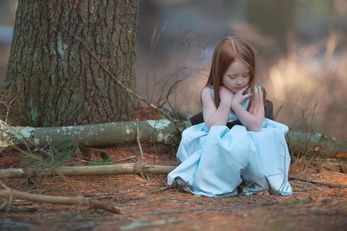 Young Girl in the woods by katphotogirl - Environmental Portraits Photo Contest