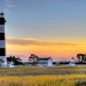 The current Bodie Island Lighthouse is the third that has stood in this vicinity of Bodie Island on the Outer Banks in North Carolina and was bui...