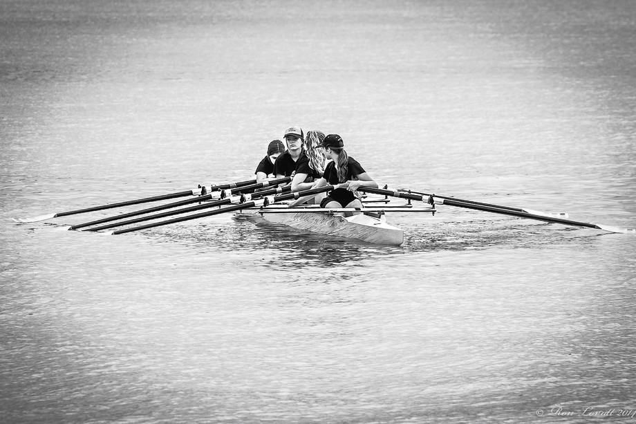 A ladies four out for an early morning row