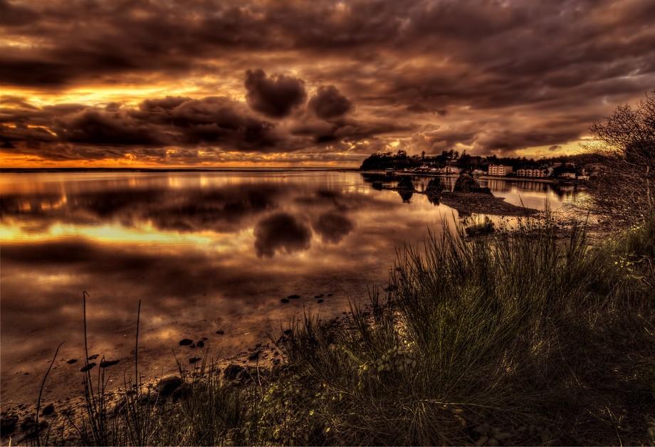 Siletz Bay in Lincoln City Oregon