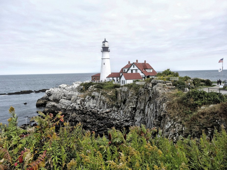 Portland Head Light in Portland, Maine is an iconic symbol and one of the most photographed light...