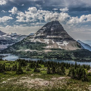 This is the view from the Hidden Lake Overlook above the Logan Pass Visitor's Center in Glacier National Park.  Truly one of the more awe inspiring views in the park.