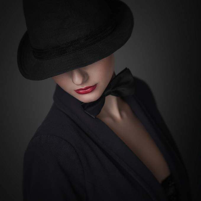 hat lady by momasko - Her In The Studio Photo Contest