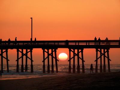 Sunset at Newport Beach, CA