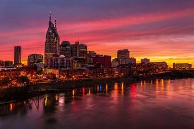 Downtown Nashville at the Cumberland River