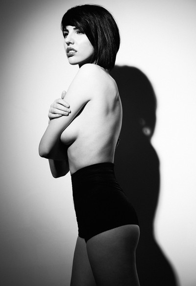 Glamour black and white photography